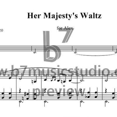 Her Majesty's Waltz - Sheet Music Preview