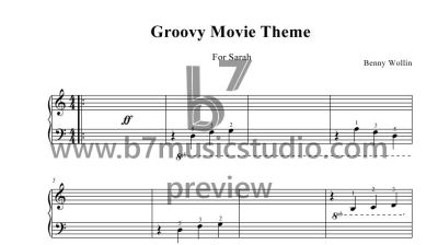 Groovy Movie - Sheet Music Preview