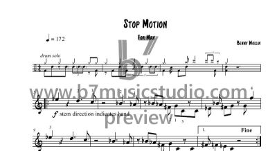 Stop Motion - Sheet Music Preview
