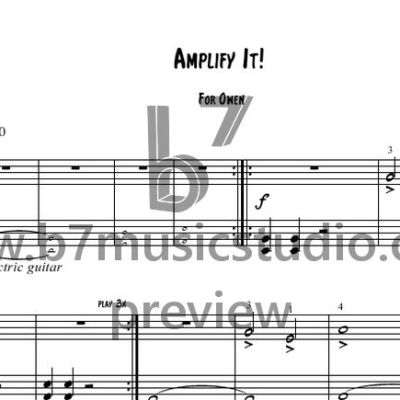 Amplify It! - Sheet Music Preview