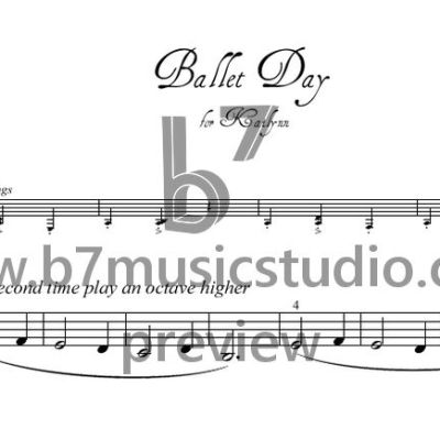 Ballet Day - Sheet Music Preview