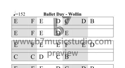 Ballet Day - Alternate Sheet Music Preview