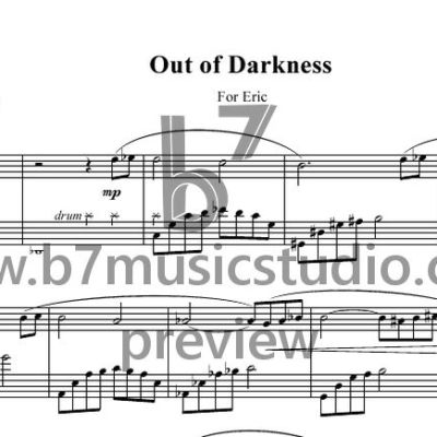 Out of Darkness - Sheet Music Preview