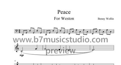 Peace - Sheet Music Preview