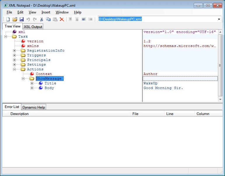 XML Notepad 2007-1