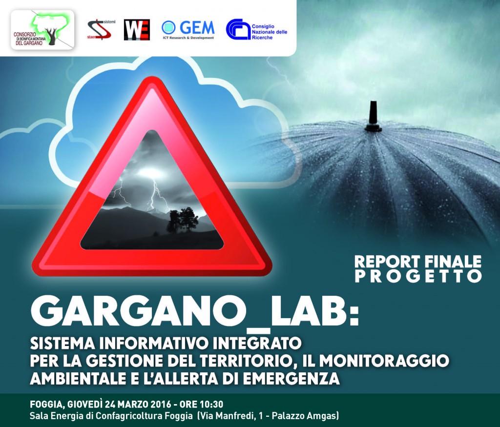 Gargano_Lab, presentazione del report conclusivo