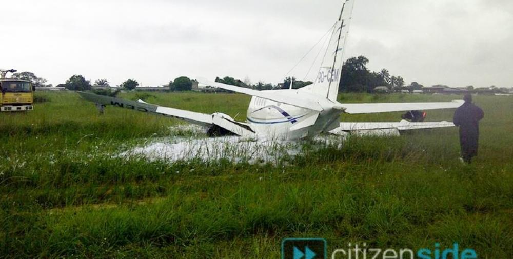 Crash of a Beechcraft King Air A100 in PointeNoire