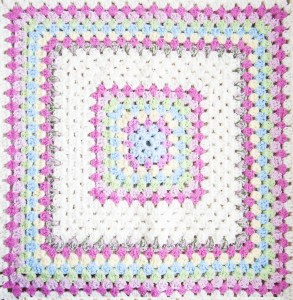 fragment of Blanket made of granny Squares