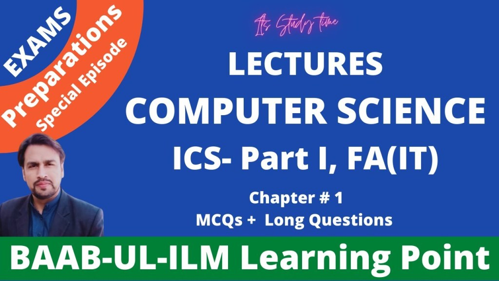 Computer Science ICS Part-I Ch-1 | MCQs & Long Questions Solved