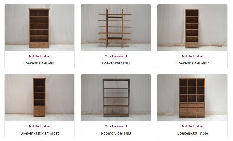 Boekenkasten overzicht - Teak Meubelen - Baan Wonen