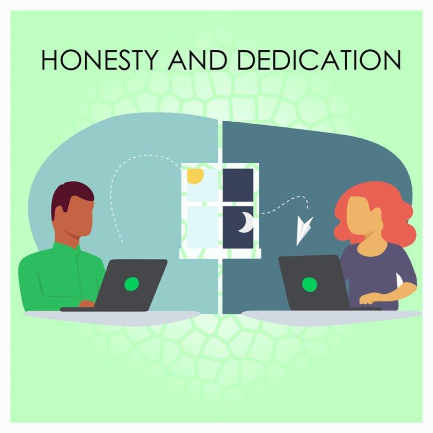 Honesty and dedication