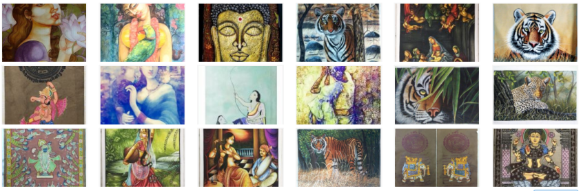Online buying of art prints indian paintings and Digital art
