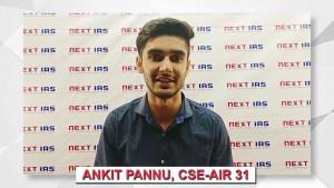 Ankit Pannu 2017 UPSC Topper