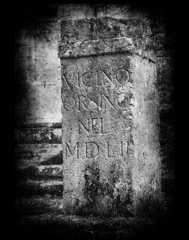 Bomarzo inscripción © Eva Contreras