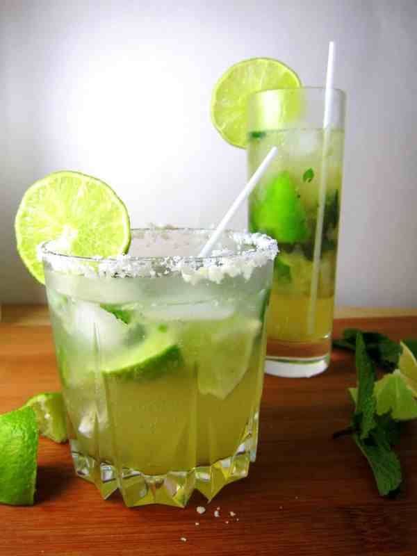 coconut agave mojitos