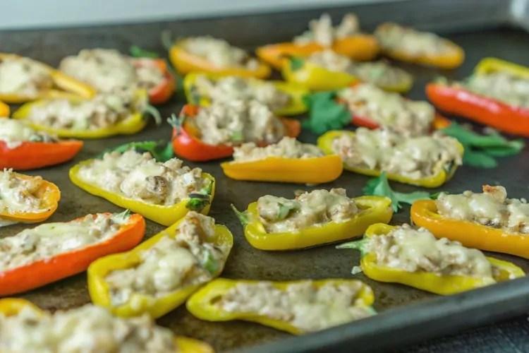 Shrimp Rangoon Mini Bell Peppers Appetizer