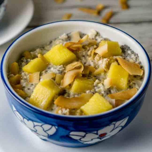 tropical oatmeal