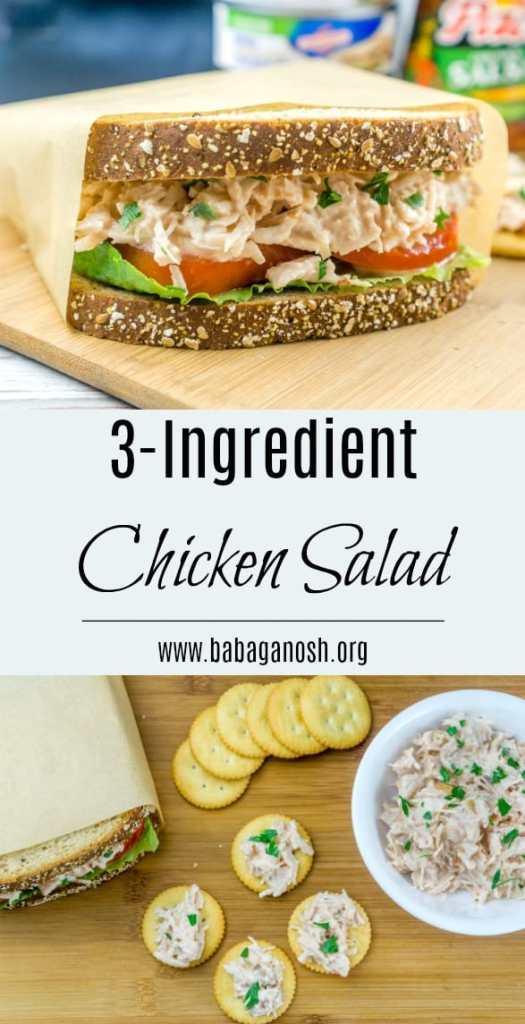 3 ingredient chicken salad
