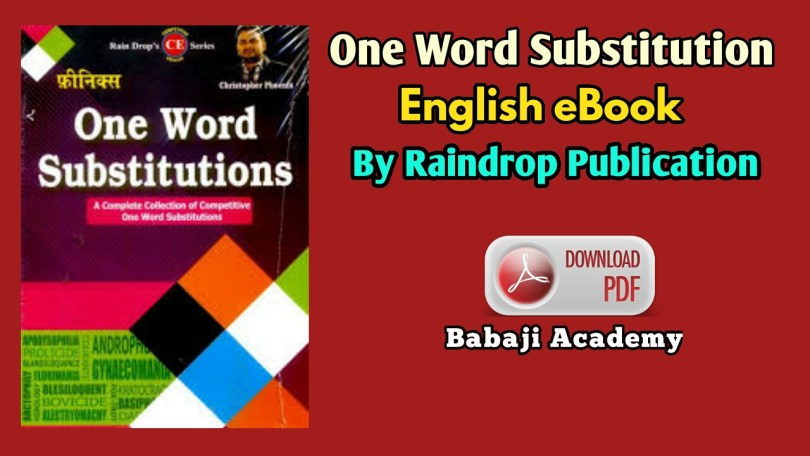 One Word Substitution by Raindrop Publication