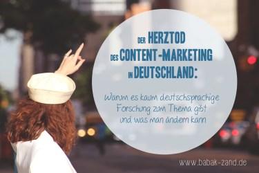 Der Herztod des Content-Marketing in Deutschland