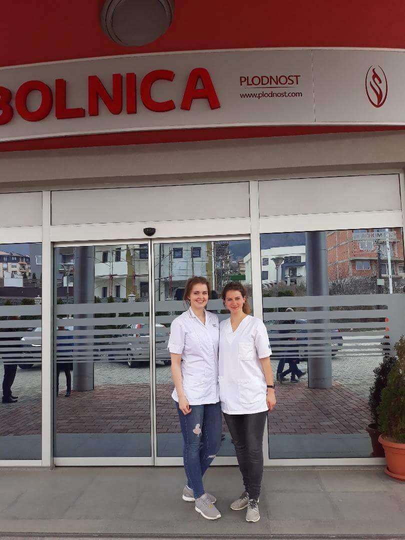 Студентките од Велика Британија и Швајцарија воодушевени од болницата Плодност во Битола