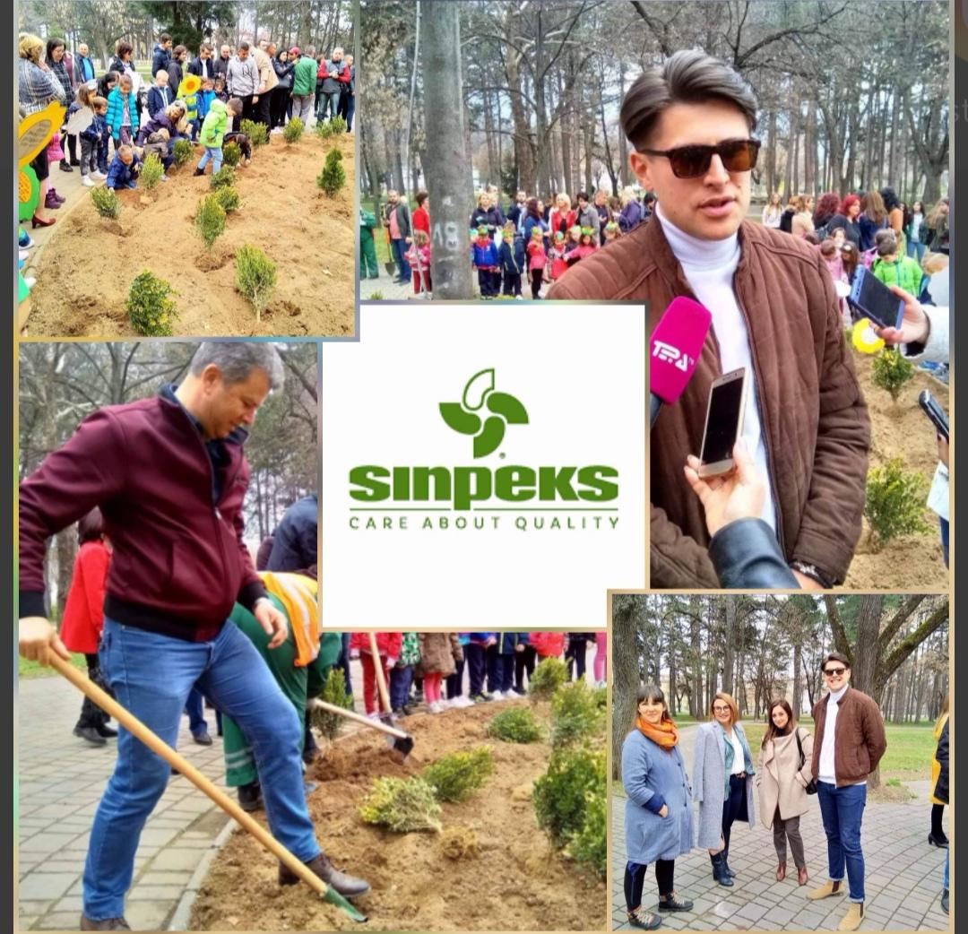 """Синпекс ДОО, пример за општествено одговорна компанија со несебична поддршка за иницијативата """"Дај свој придонес- засади дрво"""""""
