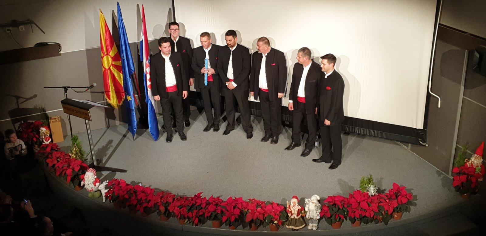 Божиќен и новогодишен концерт на Машка клапа од Хрватска во Центарот за Култура во Битола