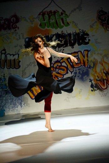 Hexeneinmaleins Bühnendekoration Tanzplan Andrea Simon, Hofheim 2014