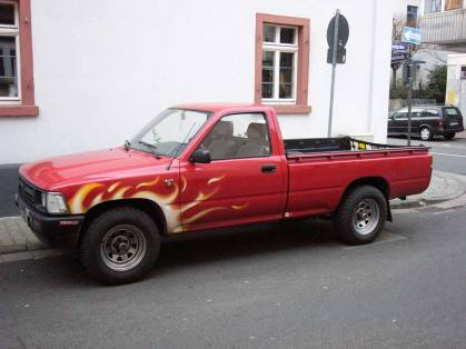 Pick Up flames Flammen 2002 Frankfurt