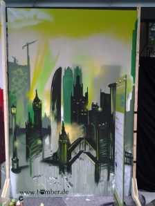 Skyline green, 200 x 300 cm, 2013, private property