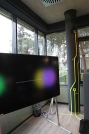 Tape Art Leiterbahnen, conducting paths, Vinci Energies Digitalschmiede, Digitalspace, Frankfurt 2018