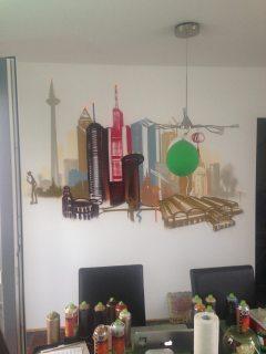 Frankfurt, Skyline, Privaträume Wohnzimmer, Maintal