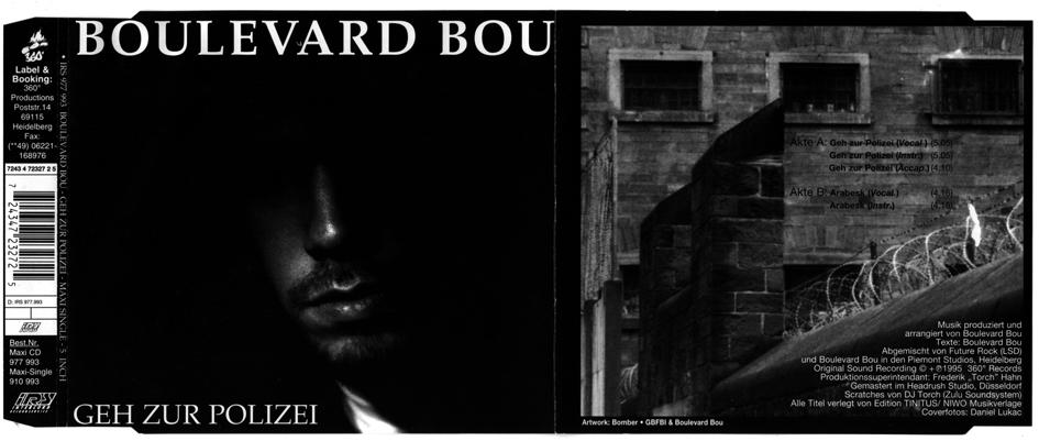 Boulevard Bou - Geh zur Polizei 12 inch & CD Cover artwork 1994
