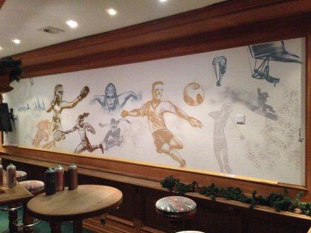 Sportsbar Wandgestaltung Michel Hotel Hodenhagen