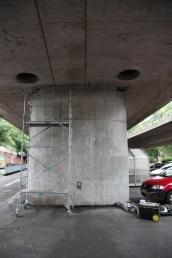 Rosa Luxemburg Brücke Frankfurt-Ginnheim Graffiti Art-Street Art by Bomber, 2016