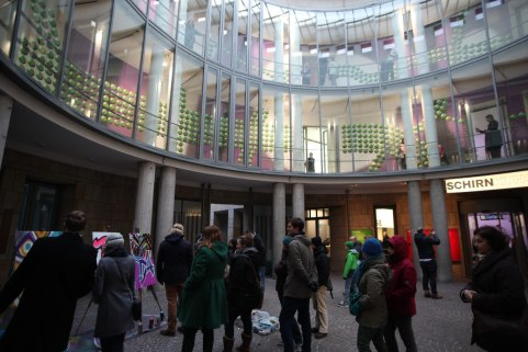 Urban Art Spray Workshop Schirn Rotunde Evangelische Theologie der Uni Marburg, 2016