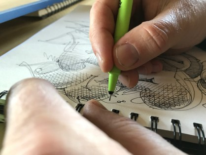 Bomber sketching © Musti Enzmann