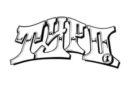 Typo – handgezeichneter Style-Sketch. Typo – handish drawn sketch, 1991