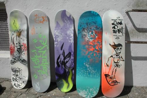 Skateboards for XS Energy drink 2012