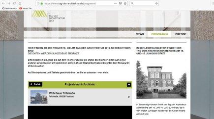 Website Tag der Architektur