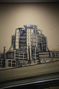 DB-Zentrale Frankfurt REWE Graffiti 2017