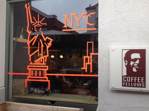 COFFEE FELLOWS NYC skyline Ingolstadt Village Tape Art 2019