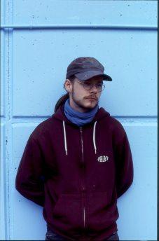 Daim at the blue wall @ Paris Gare du Nord 1994