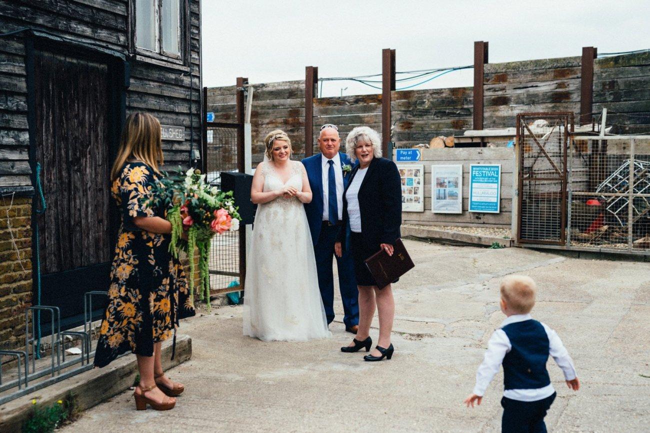 Seaside wedding photography BABB
