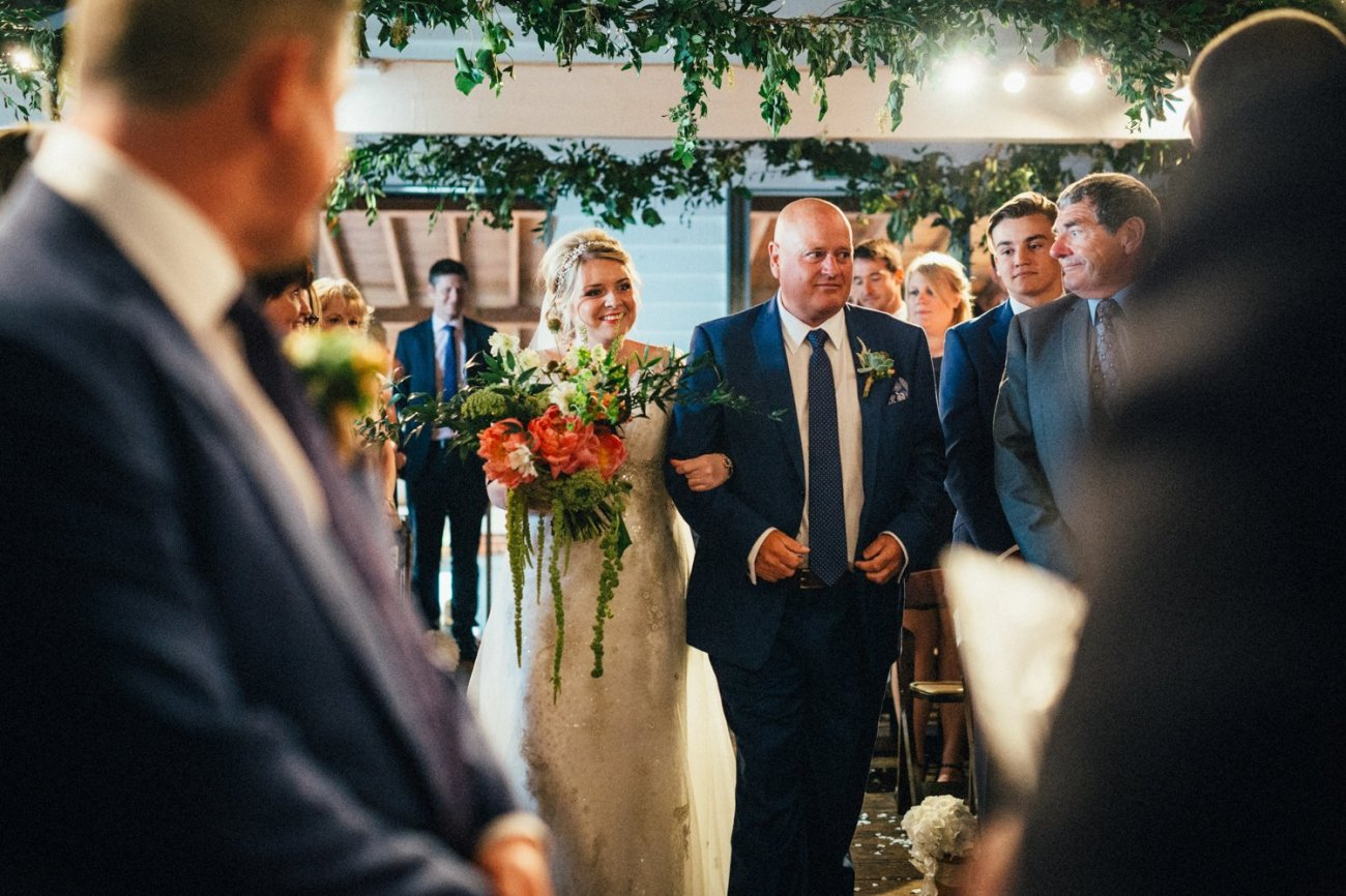 Bride with Father walking the aisle BABB