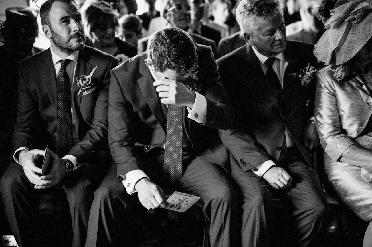 Emotions displayed at Kent wedding BABB