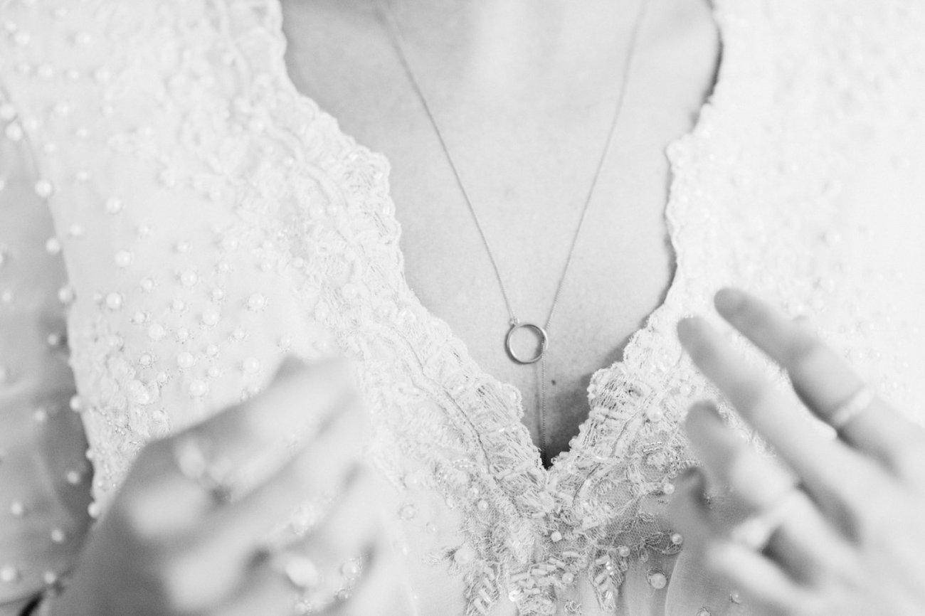 Emma Beaumont bride close up