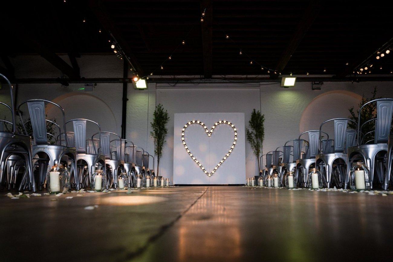 Industrial glam Chainstore wedding