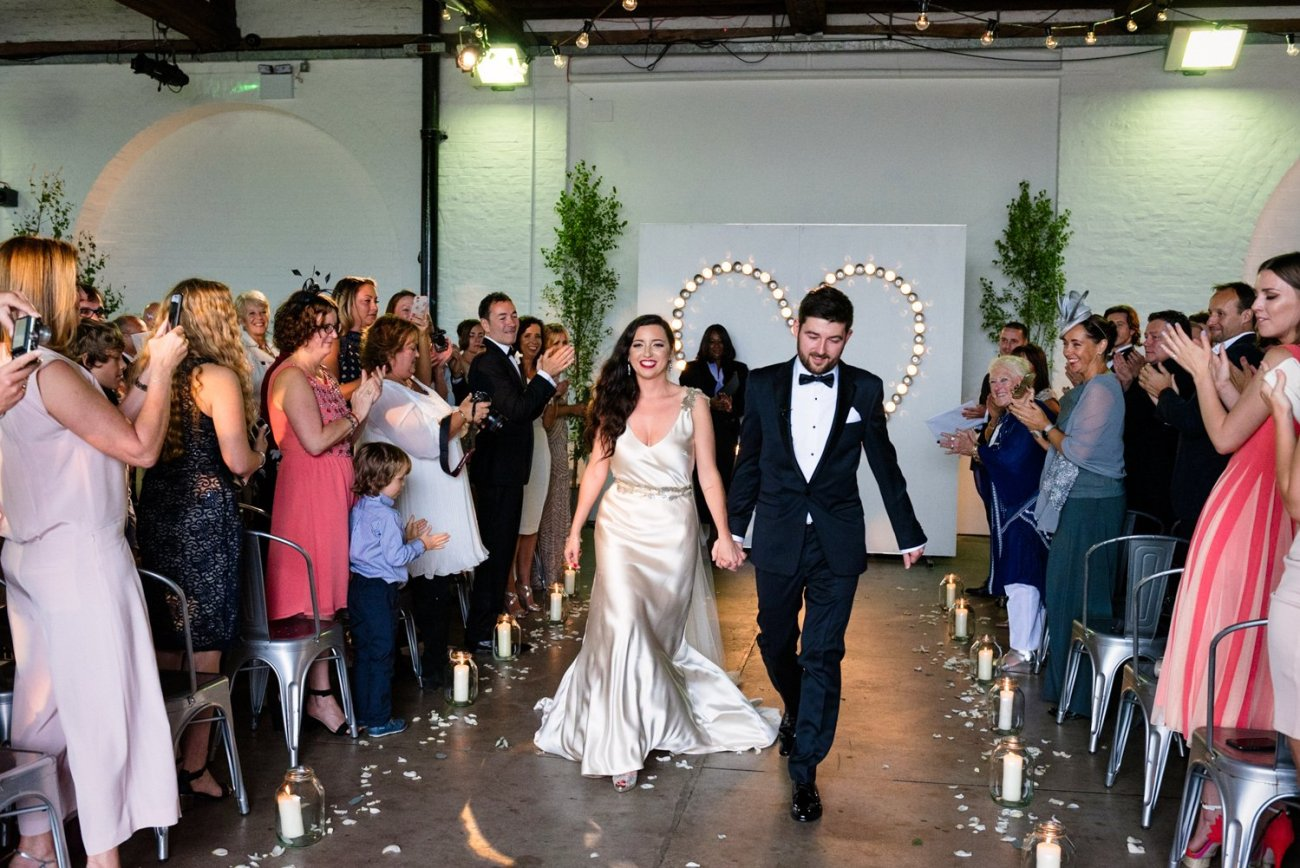 Glam London Warehouse Wedding
