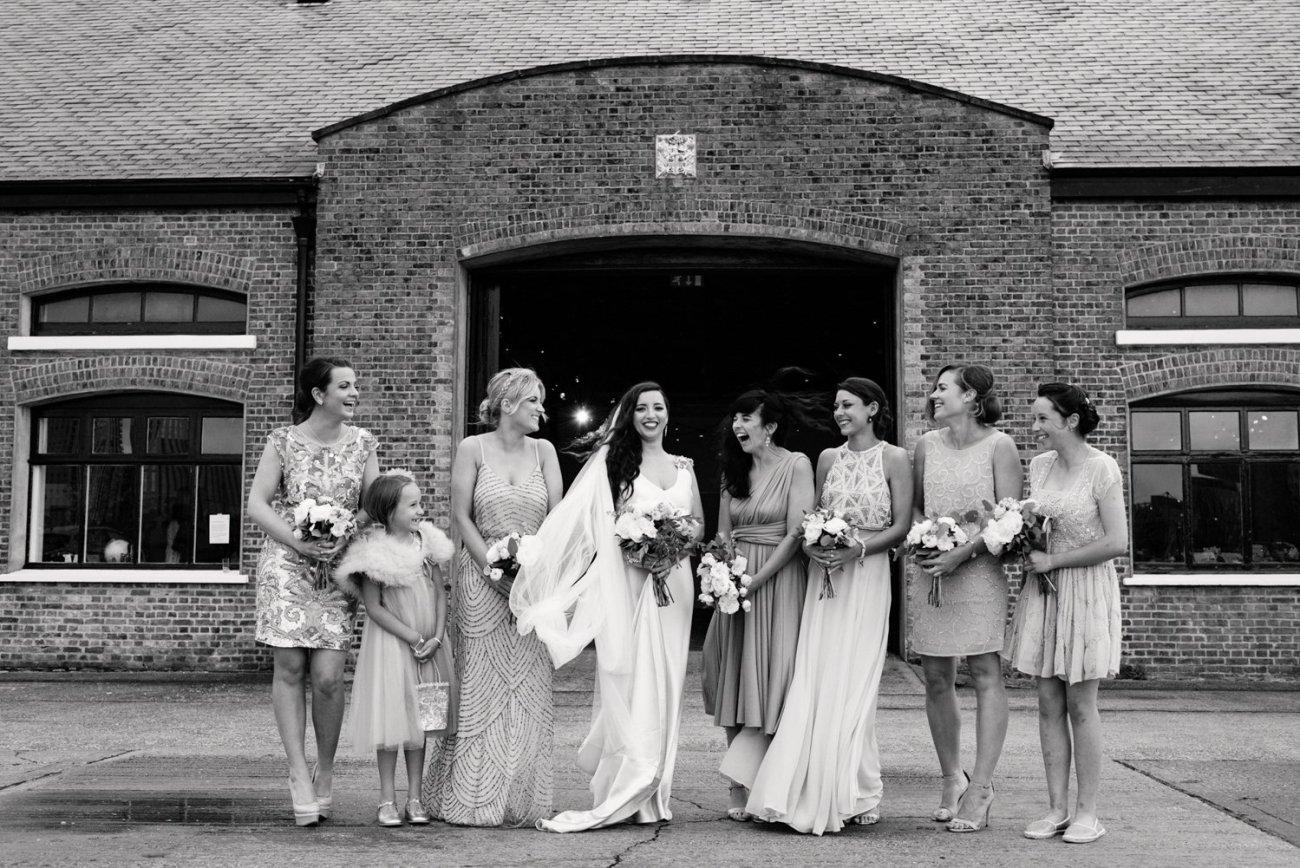 Urban chic London wedding